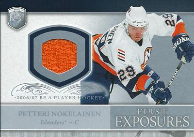 ペッテリ・ノケライネン NHLカード Petteri Nokelainen 2006/07 Be A Player Portraits First Exposures