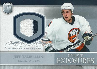 ジェフ・タンベリーニ NHLカード Jeff Tambellini 2006/07 Be A Player Portraits First Exposures