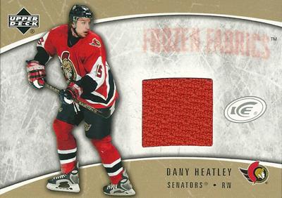 ダニー・ヒートリー NHLカード Dany Heatley 2005/06 Upper Deck Ice Frozen Fabrics