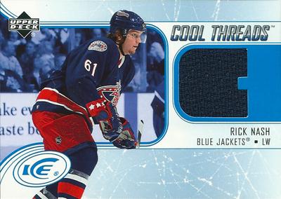 リック・ナッシュ NHLカード Rick Nash 2005/06 Upper Deck Ice Cool Threads