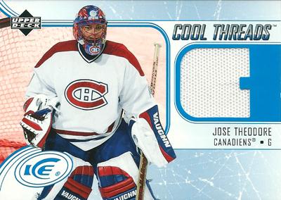 ホセ・セオドア NHLカード Jose Theodore 2005/06 Upper Deck Ice Cool Threads