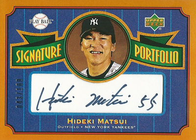 松井秀喜 MLBカード 2004 Upper Deck Play Ball Signature Portfolio 043/100