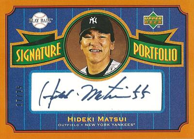 松井秀喜 MLBカード 2004 Upper Deck Play Ball Signature Portfolio 17/25