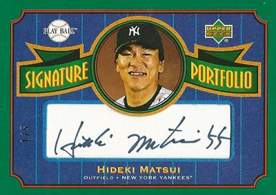 松井秀喜 MLBカード 2004 Upper Deck Play Ball Signature Portfolio 1/5