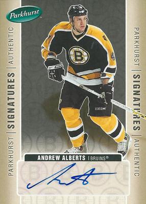 アンドリュー・アルバーツ NHLカード Andrew Alberts 2005/06 UD Parkhurst Signatures