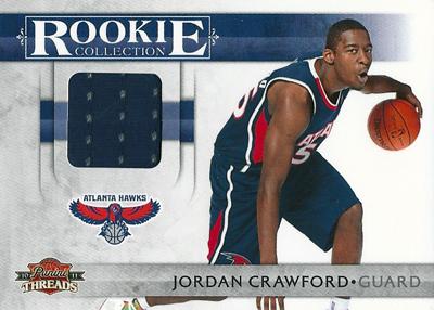 ジョーダン・クロフォード NBAカード Jordan Crawford 10/11 Panini Threads Rookie Collection Materials 320/399