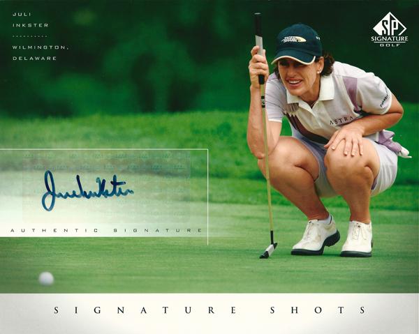 ジュリ・インクスター GOLF 2004 SP Signature Shots 8×10 Photo Card / Juli Inkster