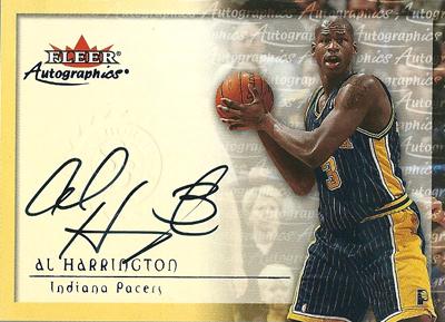 アル・ハリントン NBAカード Al Harrington 00/01 Fleer Autographics
