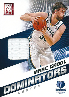 マルク・ガソル NBAカード Marc Gasol 12/13 Panini Elite Dominators Materials