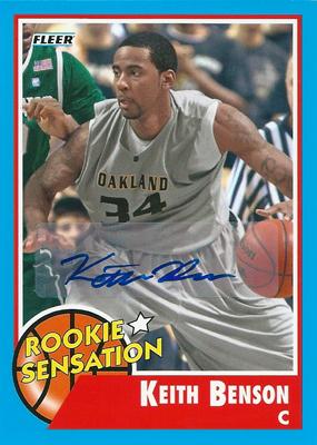 キース・ベンソン NBAカード Keith Benson 11/12 Fleer Retro Autographs