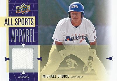 マイケル・チョイス MLBカード Michael Choice 2011 UD World Sports All-Sport Apparel Memorabilia
