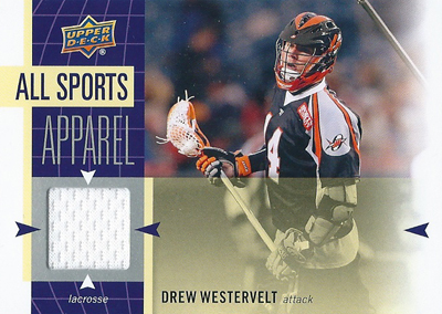ドリュー・ウェスターベルト ラクロスカード Drew Wsetervelt 2011 UD World Sports All-Sport Apparel Memorabilia