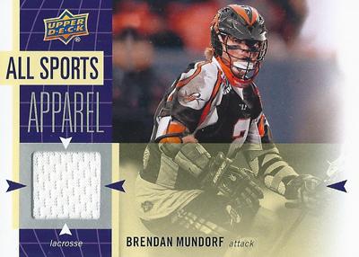 ブレンダン・ムンドルフ ラクロスカード Brendan Mundorf 2011 UD World Sports All-Sport Apparel Memorabilia