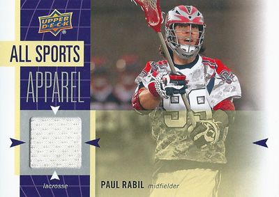 ポール・ラビル ラクロスカード Paul Rabil 2011 UD World Sports All-Sport Apparel Memorabilia