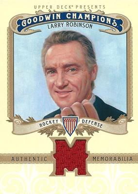 ラリー・ロビンソン NHLカード Larry Robinson 2012 Upper Deck Goodwin Champions Memorabilia