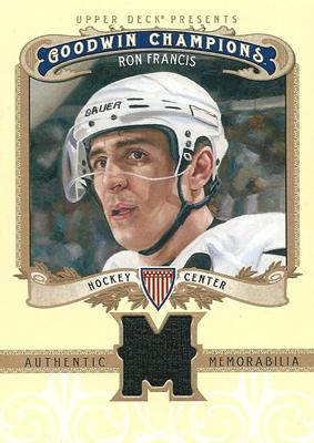 ロン・フランシス NHLカード Ron Francis 2012 Upper Deck Goodwin Champions Memorabilia