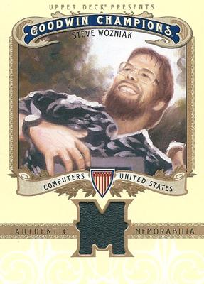 スティーブン・ウォズニアック Steve Wozniak 2012 Upper Deck Goodwin Champions Memorabilia