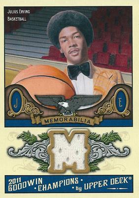 ジュリアス・アービング NBAカード Julius Erving 2011 Upper Deck Goodwin Champions Memorabilia