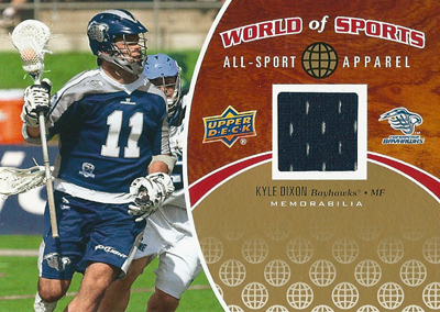 カイル・ディクソン ラクロスカード Kyle Dixon 2010 Upper Deck World of Sports All-Sports Apparel Memorabilia