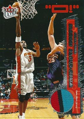 シャリーフ・アブドゥル・ラヒーム NBAカード Shareef Abdur-Rahim 02/03 Fleer Ultra Game Used