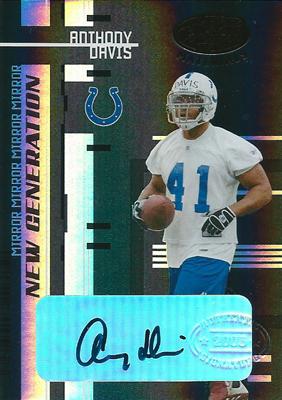 アンソニー・デービス NFLカード Anthony Davis 2005 Leaf Certified Materials Autographs Mirror Black 1/1