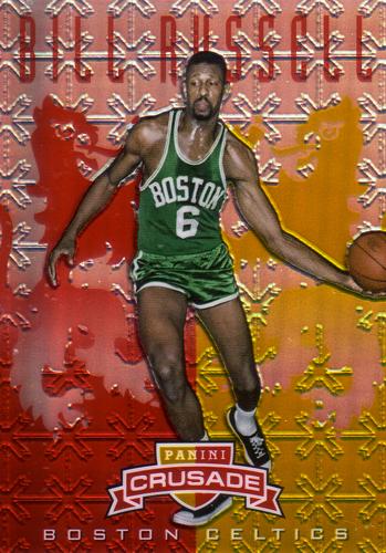 ビル・ラッセル NBAカード Bill Russell 12/13 Panini Crusade Red Prizm 73/99