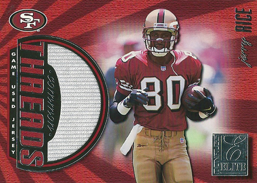 ジェリー・ライス NFLカード Jerry Rice 1999 Donruss Elite Common Threads 026/150