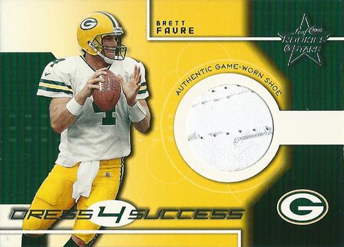 ブレット・ファーブ NFLカード Brett Favre 2000 Leaf Rookies and Stars Dress Four Success 04/50