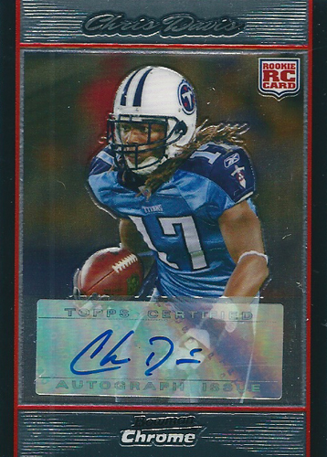 クリス・デービス NFLカード Chris Davis 2007 Bowman Chrome Rookie Autographs