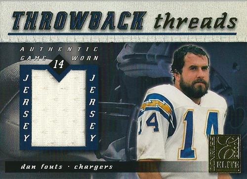 ダン・フォウツ NFLカード Dan Fouts 2000 Donruss Elite Throwback Threads 064/100
