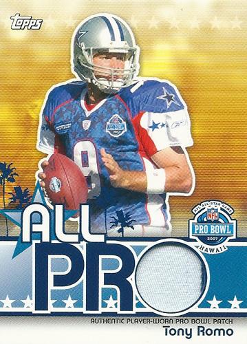 トニー・ロモ NFLカード Tony Romo 2007 Topps All Pro Relics Patch 28/99
