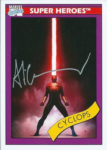 アディ・グラノフ アメコミカード Adi Granov 2013 UD Fleer Retro Marvel 1990 Marvel Universe Autographs