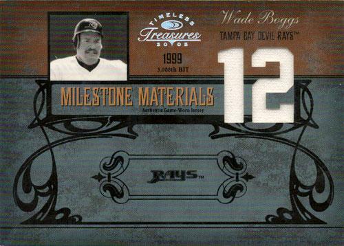 ウェイド・ボッグス MLBカード Wade Boggs 2005 Timeless Treasures Milestone Materials 04/12