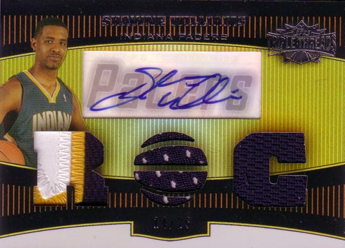 ショーン・ウィリアムス NBAカード Shawne Williams 06/07 Topps Triple Threads Rookie Patch Auto 14/25