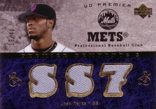 ホセ・レイエス MLBカード Jose Reyes 2007 UD Premier Remnants Triple Gold 16/40