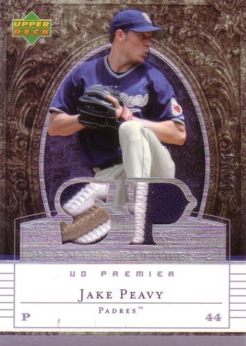 ジェイク・ピービー MLBカード Jake Peavy 2007 UD Premier Patches Dual 03/75