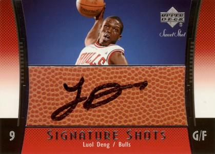 Luol Deng 2004/05 UD Sweet Shot Signature Shots