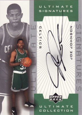 Joe Johnson 2001/02 UD Ultimate Collection Signatures