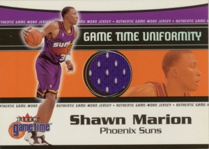 Shawn Marion 2000/01 Fleer Game Time Uniformity Jersey