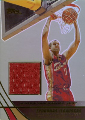 Zydrunas Ilgauskas 2003/04 Topps Jersey Edition Jersey