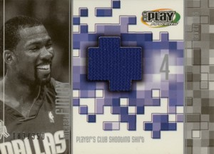 Michael Finley 2001/02 UD Playmakers Player's Club Shooting Shirt 350枚限定!