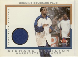 Richard Hamilton 2001/02 Fleer Genuine Coverage Plus Jersey