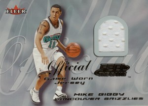 Mike Bibby 2000/01 Fleer Feel the Game Jersey