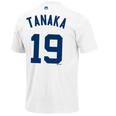 田中将大 ネーム&ナンバー Tシャツ (ヤンキース/ホワイト/#19) / Masahiro Tanaka Majestic MLB