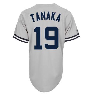 田中将大 レプリカ ユニフォーム (ヤンキース/ロード/#19) / Masahiro Tanaka Majestic MLB