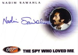 Nadim Sawahla (Fakkesh) 007 James Bond Dangerous Liaisons 直筆サインカード