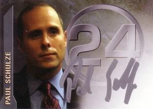 Ryan Chapell (Paul Schulze)  24 Season 3 直筆サインカード
