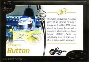 Jenson Button 2006 Futera Grand Prix 1of1 Autograph 1枚限定!