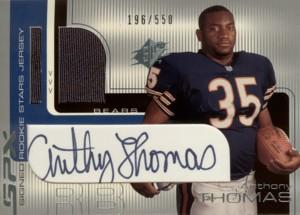 Anthony Thomas 2001 SPx Signed Rookie Jersey 550枚限定!