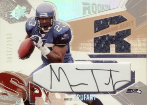 Marcus Trufant 2003 SPx Rookie Autographed Jersey 1